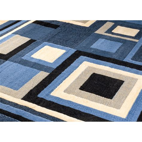 Blue Contemporary Area Rug Rugs Royal Contemporary Blue Area Rug Reviews Wayfair