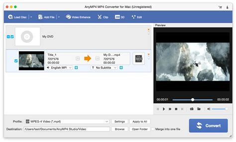 mp3 mp4 converter mac free download screenshot of anymp4 mp4 converter for mac