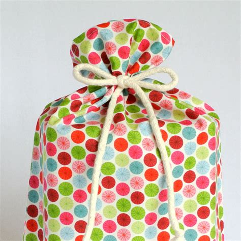large cloth gift bags christmas wrapping in by