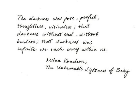 Milan Kundera The Unbearable Lightness Of Being by Milan Kundera Quotes Image Quotes At Relatably Com