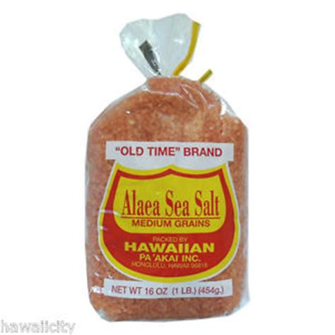 himalion brand salt l hawaiian red alaea hawaii sea salt old time brand 1lb ebay