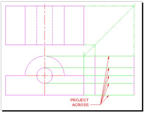 autocad tutorial orthographic orthographic projection tutorial for autocad with video
