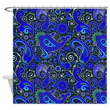 Blue Paisley Curtains Blue Paisley Pattern Shower Curtain By Graphicallusions