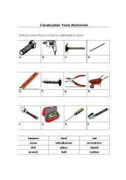 Elite Dining Room Furniture English Worksheet Construction Tools Worksheet