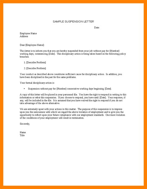 image result suspension letter employee