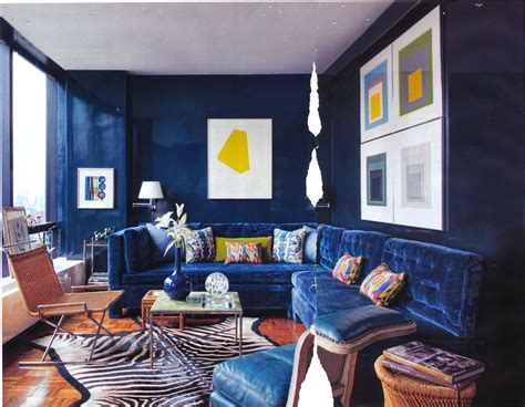 Navy Blue Room by Visual Interior Design Color Fever Blue White