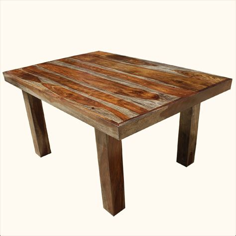 solid wood kitchen furniture 60 quot solid wood contemporary rustic dining room table