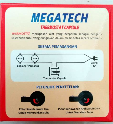 Thermostat Kapsul Untuk Mesin Penetas Telur harga thermostat kapsul megatech mesin tetas telur jual