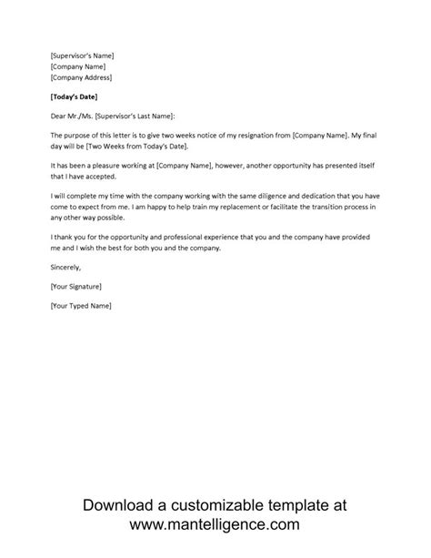 What Should A Resignation Letter Say by 25 Best Ideas About Two Weeks Notice On Resignation Template Resignation Sle
