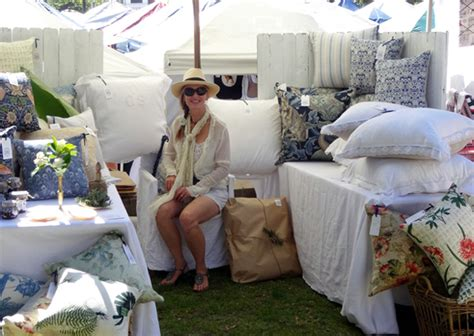 Handmade Markets Sydney - made colonial coast cushions at mosman markets