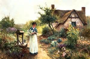 cottage garden paintings ernest walbourn cottage garden painting cottage garden