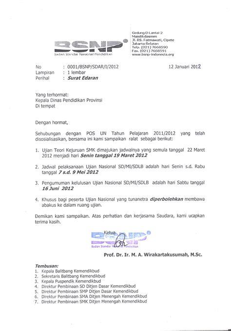 ralat pos un tahun 2011 2012 bsnp indonesia