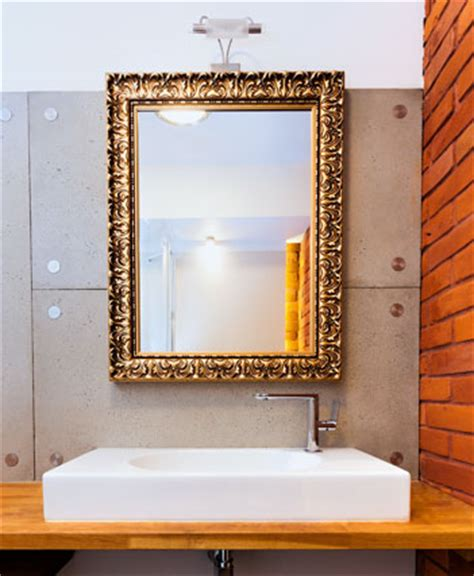 Mal 0455 Gold Framed Mirror Large Mirror Bathroom Gold Bathroom Mirror