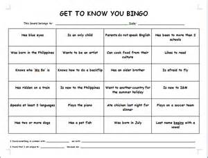 Pin get to know you bingo template on pinterest