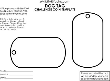 Editable Dog Tag Clipart Challenge Coin Template Psd