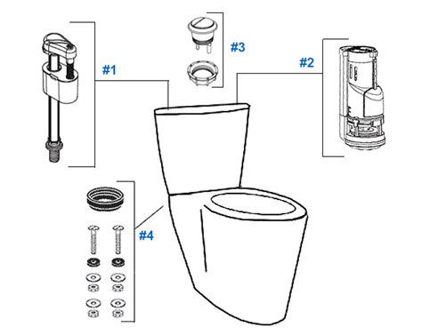 mansfield toilet diagram mansfield enso toilet replacement parts