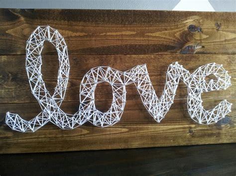 Wood For String - string on pallet wood crafts