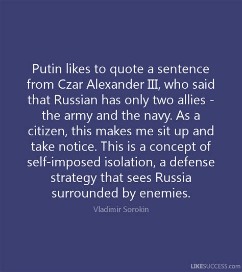 selves in a sentence putin likes to quote a sentence from cza by vladimir