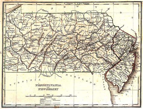 New York Pennsylvania Map by Tngenweb Pennsylvania New Jersey 1835 Map