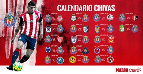 Calendario De Chivas Chivas Conoce El Calendario De Las Chivas Para El