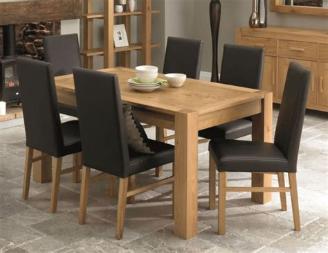 Lyon Dining Table Lyon Oak Dining Table With Dining Room Chairs