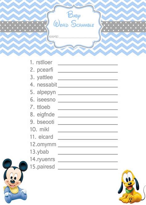 free templates for baby shower games free printable baby shower scramble word answers baby