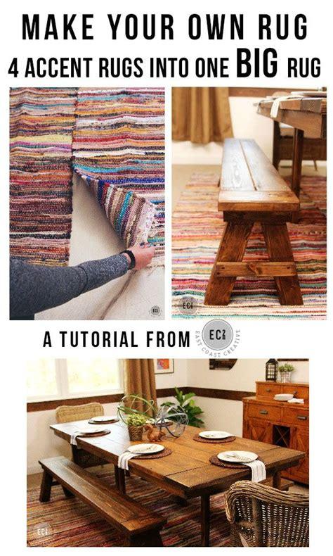 how to make a diy rag rug using old bedding diy rug tutorial using 4 rag rugs to make one large
