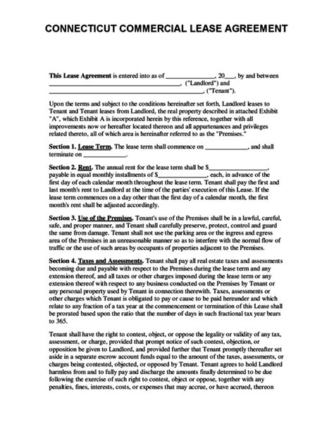 printable lease agreement ct lease agreement templates simple lease agreement template