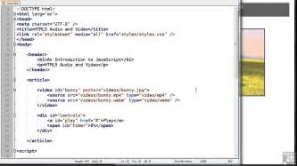 tutorial html5 y javascript javascript programming tutorial audio and video html5