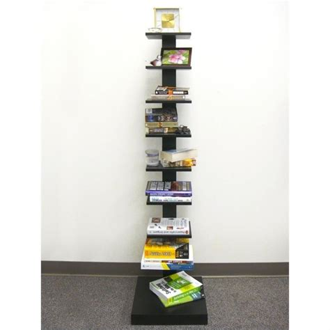 proman products spine standing book shelves in black wm16567