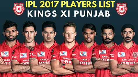 2017 all time photo player list kings xi punjab ipl 2017 full team players list after