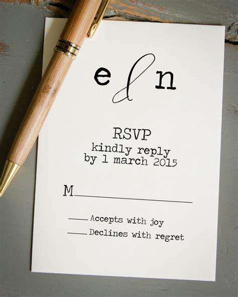 how do you sign a wedding response card wedding rsvp card diy wedding invitation st custom
