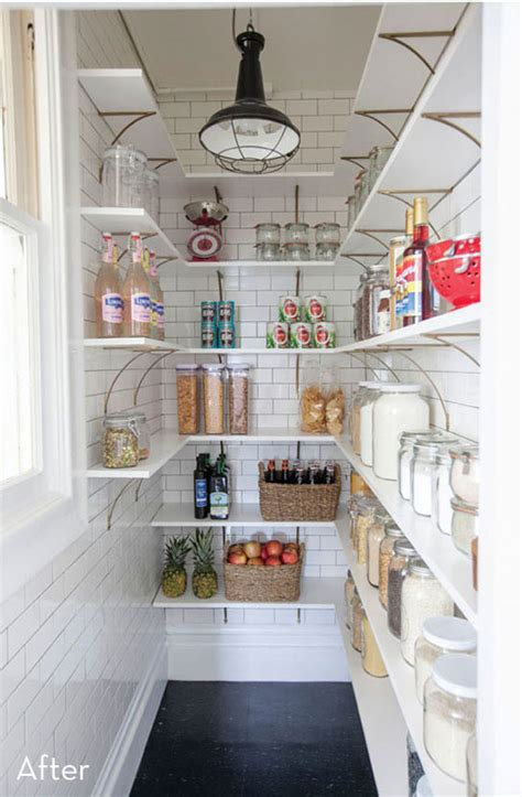 before and after an outdated pantry gets a diy renovation