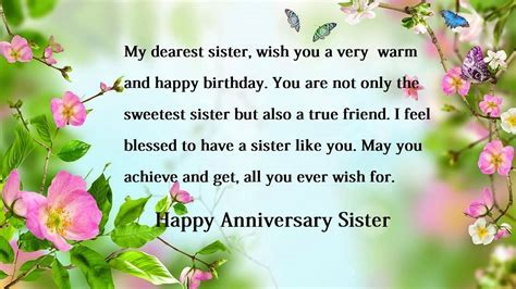 Happy anniversary wishes for sister ? Sister Anniversary