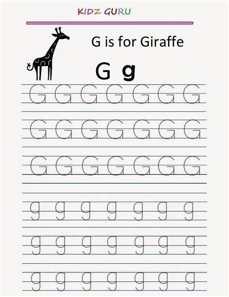 worksheets for preschool letter g g worksheets for kindergarten hard and soft g worksheet
