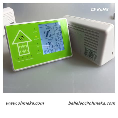 free shipping voc pm2 5 temperature monitor new pm2 5 dust particle counter air quality monitor