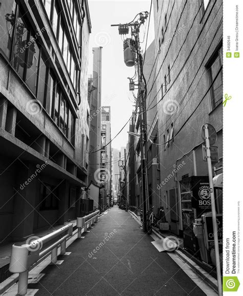 how tall are street narrow street in tokyo editorial photo image of