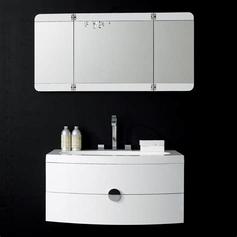 designer bathroom vanity gloss white wall mounted vanity unit curved front