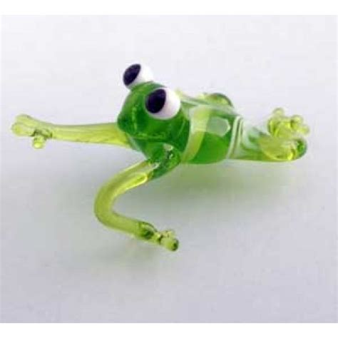 miniature tree frog handmade glass figurine sunvendor