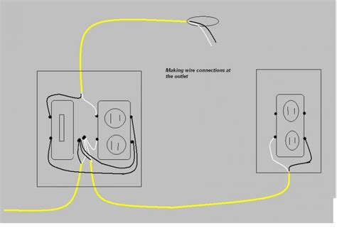 outlet switch combo wiring images frompo