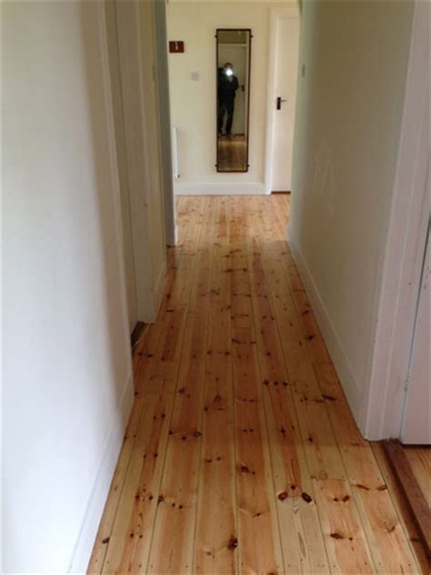 Bona Traffic (silk matt) on pine tongue and groove boards