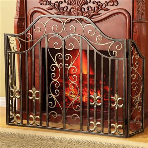 cast iron fireplace screens fabulous cast iron fleur de lis fireplace screen 53 x 33