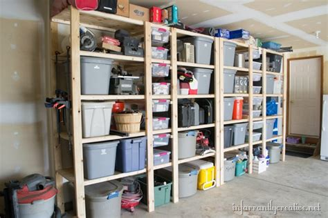 how to build shelves in garage how to build garage shelves infarrantly creative