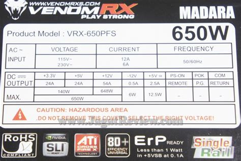 Power Supply Venom Rx Madara 700w on psu venomrx madara 650 watt dan 700 watt