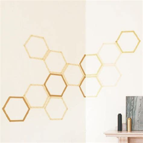 easy honeycomb wall decal  washi tape