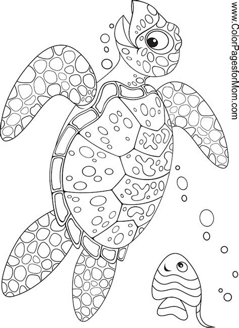ocean animals coloring pages for adults seascape ocean coloring page 34