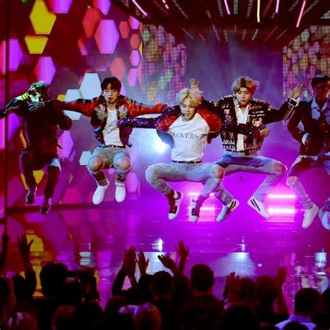 bts on ama amas releases photos of bts during performance and behind