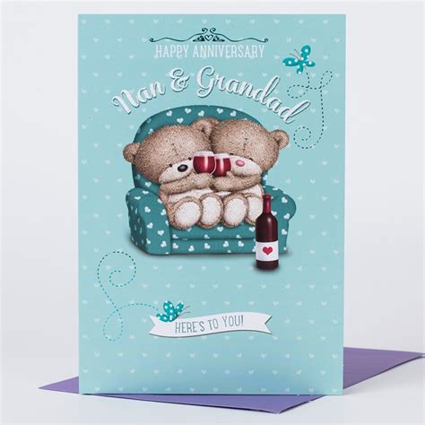 Wedding Anniversary Card Nan And Grandad by Hugs Anniversary Card Hugs For You Nan Grandad Only 59p
