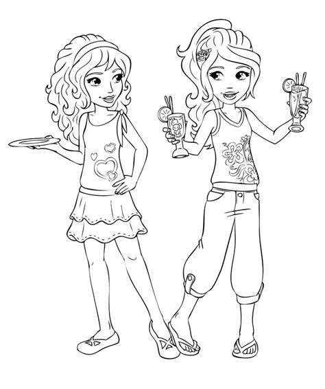 coloring pages with friends lego friends coloring pages coloring home