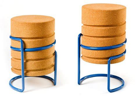 Chagne Cork Bar Stools by Intuitive Height Adjustable Cork Stool Is A Real Up